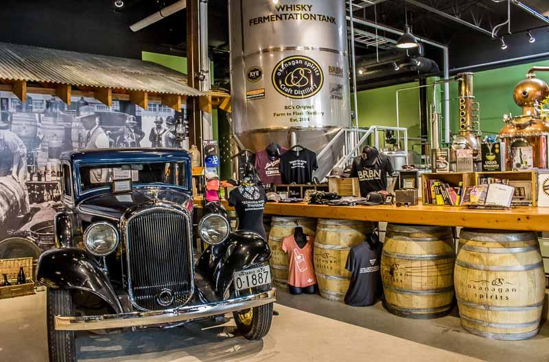 Okanagan-Spirits-Vernon-antique-car-and-whiskey-vat.jpg